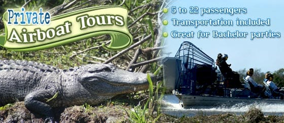 Private Airboat Tours Near New Orleans