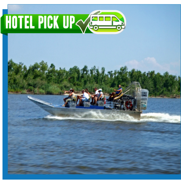 New Orleans Airboat Tour 16 Passenger airboat with Hotel Pickup