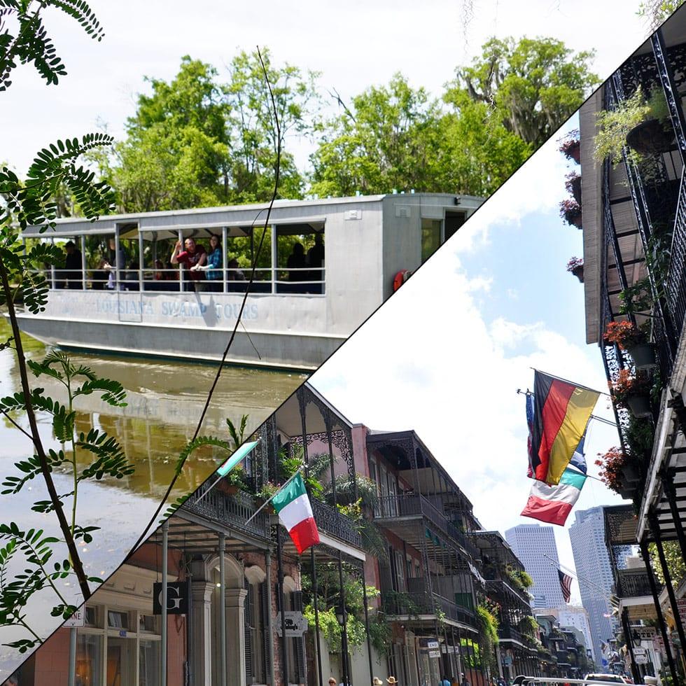 New Orleans City Tour + Swamp Boat Tour, Combination Tours