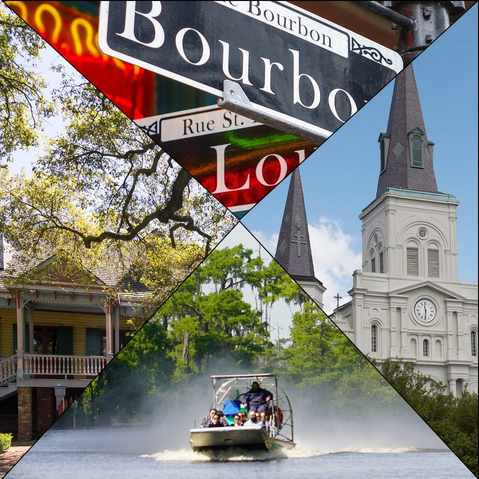 New Orleans Tours, Combination Tours, Our Airboat Swamp tour is an exhilarating adventure that consists of part tour and part airboat ride.