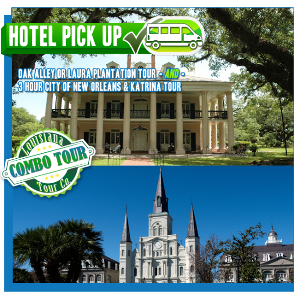Plantation and City of New Orleans tour