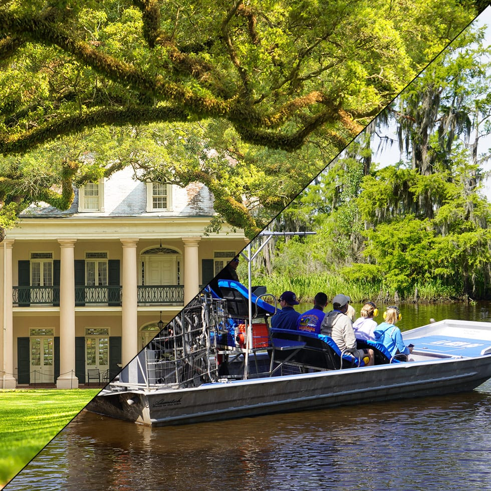Oak Alley Plantation + Airboat Swamp Tour, Combination Tours
