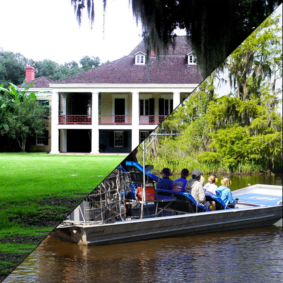 Destrehan Plantation and Swamp Airboat Tour, Plantation Tours New Orleans, Combination Tours