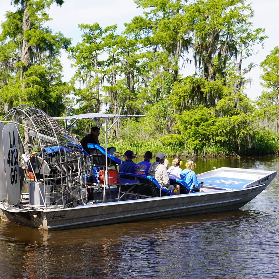 Small Airboat Swamp Tour, Swamp Tours By Airboat, Group Tours